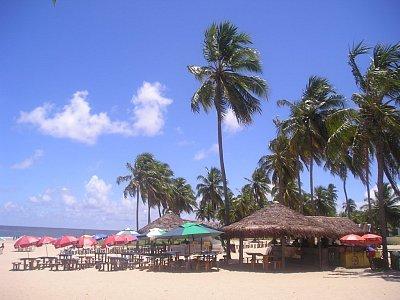 Typická brazilská pláž