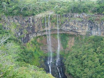 Úchvatný vodopád Chamarel