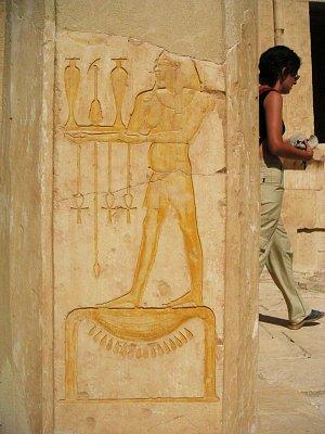 Reliéf v chrámu královny Hatšepsut (nahrál: admin)