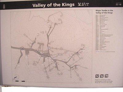 Mapka hrobů v Údolí králů (nahrál: admin)
