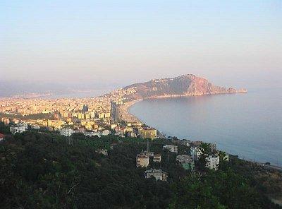 výhled na Kleopatřinu pláž a hrad (nahrál: Johana K.)