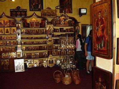 muzeum ikon - na cestě ke klášterům Meteora,jsme navštívili muzeum ikon (nahrál: Aranka)