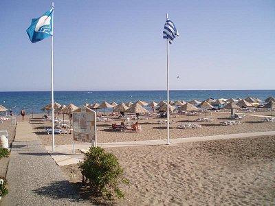 Pláž u hotelu Blue Sea Beach Resort Faliraki (nahrál: Habibi Sentido)