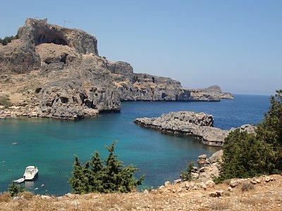 Akropole Lindos a záliv Agios Pavlos (nahrál: Yveta)